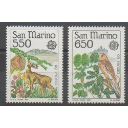 Saint-Marin - 1986 - No 1133/1134 - Environnement - Oiseaux - Europa