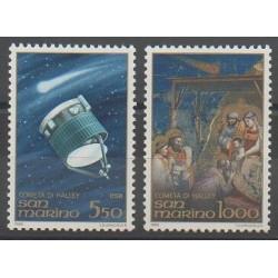 San Marino - 1986 - Nb 1131/1132 - Astronomy