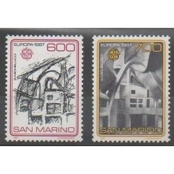 San Marino - 1987 - Nb 1148/1149 - Monuments - Europa