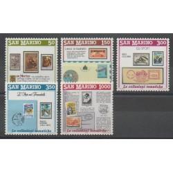 Saint-Marin - 1988 - No 1174/1178 - Timbres sur timbres - Philatélie