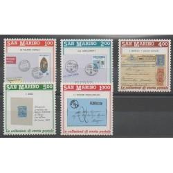 Saint-Marin - 1989 - No 1210/1214 - Timbres sur timbres - Philatélie
