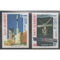 Saint-Marin - 1991 - No 1264/1265 - Espace - Europa