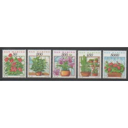 Saint-Marin - 1992 - No 1296/1300 - Fleurs