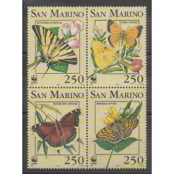 Saint-Marin - 1993 - No 1328/1331 - Insectes - Espèces menacées - WWF