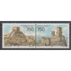 Saint-Marin - 1996 - No 1453/1454 - Châteaux