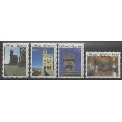 Saint-Marin - 1994 - No 1375/1378 - Châteaux