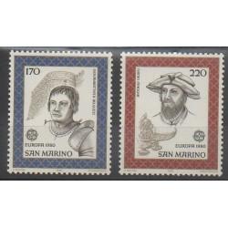 Saint-Marin - 1980 - No 1011/1012 - Célébrités - Europa