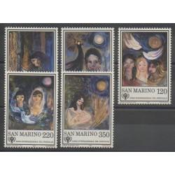 Saint-Marin - 1979 - No 982/986 - Peinture - Enfance
