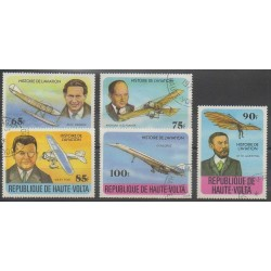 Upper Volta - 1978 - Nb 449/453 - Planes - Used