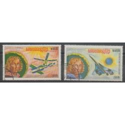 Cambodge - République Khmère - 1974 - No PA31G/PA31H - Aviation - Espace - Oblitéré