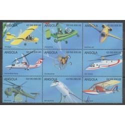Angola - 1998 - Nb 1214/1222 - Planes