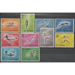 Saint-Marin - 1963 - No 605/614 - Jeux Olympiques d'été