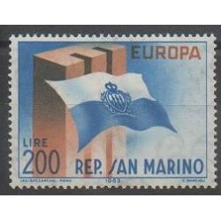 Saint-Marin - 1963 - No 604 - Drapeaux - Europa