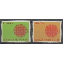 San Marino - 1970 - Nb 762/763 - Europa