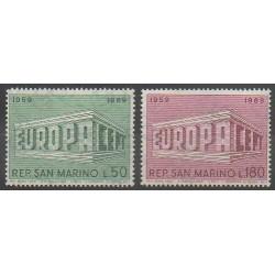 San Marino - 1969 - Nb 732/733 - Europa
