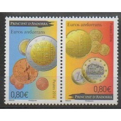 French Andorra - 2016 - Nb 777/778 - Coins, Banknotes Or Medals