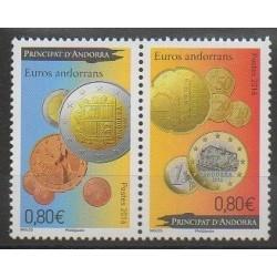 Andorre - 2016 - No 777/778 - Monnaies, billets ou médailles