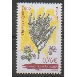 French Andorra - 2015 - Nb 773 - Flora