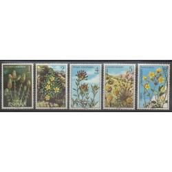 Spain - 1974 - Nb 1875/1879 - Flowers