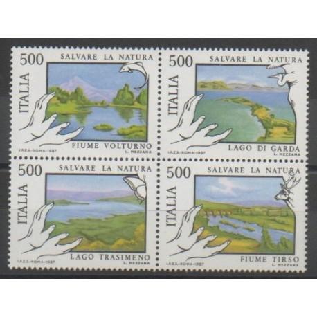 Italie - 1987 - No 1737/1740 - Environnement