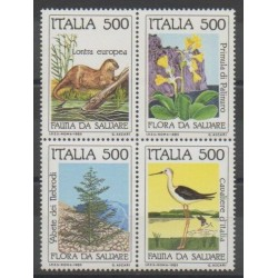 Italy - 1985 - Nb 1658/1661 - Environment - Endangered species - WWF