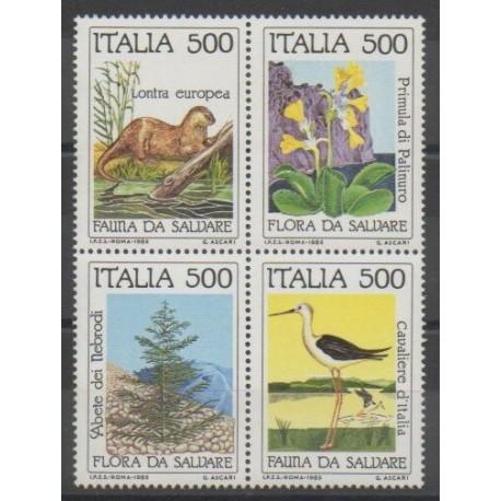 Italie - 1985 - No 1658/1661 - Environnement - Espèces menacées - WWF