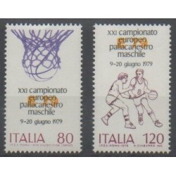 Italie - 1979 - No 1394/1395 - Sports divers