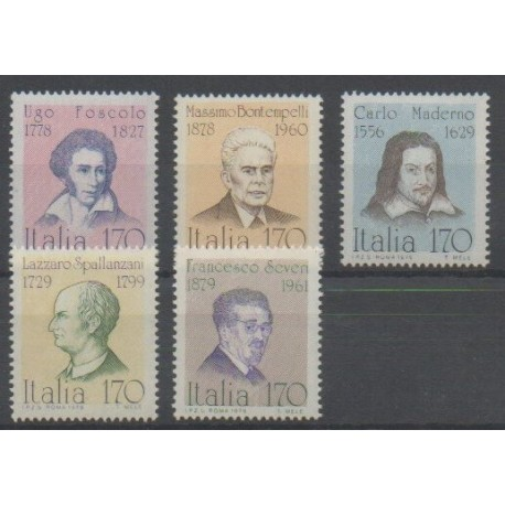 Italie - 1979 - No 1384/1388 - Célébrités