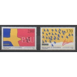 French Andorra - 1995 - Nb 457/458 - Europa