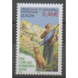 French Andorra - 2003 - Nb 580 - Europa