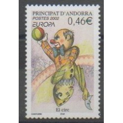 French Andorra - 2002 - Nb 569 - Circus - Europa