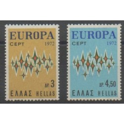 Grèce - 1972 - No 1084/1085 - Europa