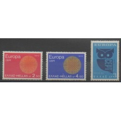 Greece - 1970 - Nb 1020/1022 - Europa