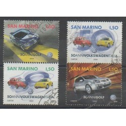San Marino - 2004 - Nb 1947/1950 - Cars - Used