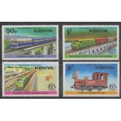 Kenya - 1976 - No 58/61 - Chemins de fer