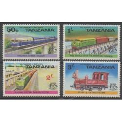 Tanzanie - 1976 - No 56/59 - Chemins de fer