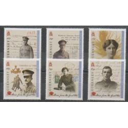 Guernesey - 2014 - No 1515/1520 - Première Guerre Mondiale