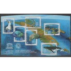 New Caledonia - Blocks and sheets - 2008 - Nb BF39 - Reptils - Mamals