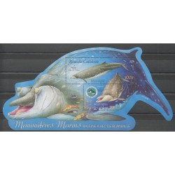 New Caledonia - Blocks and sheets - 2004 - Nb BF32 - Sea animals - Mamals