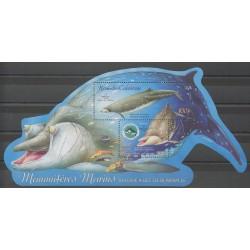 Nouvelle-Calédonie - Blocs et feuillets - 2004 - No BF32 - Animaux marins - Mammifères