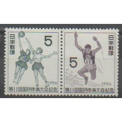 Japon - 1956 - No 584/585 - Sports divers