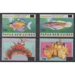 Papouasie-Nouvelle-Guinée - 2005 - No 1028/1031 - Animaux marins