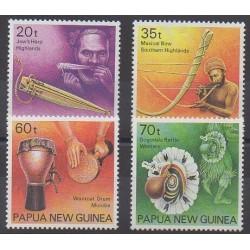 Papouasie-Nouvelle-Guinée - 1990 - No 622/625 - Musique