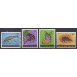 Papouasie-Nouvelle-Guinée - 1980 - No 397/400 - Reptiles - Mammifères