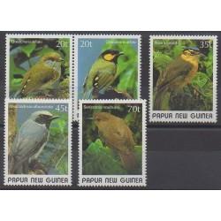 Papouasie-Nouvelle-Guinée - 1989 - No 591/595 - Oiseaux