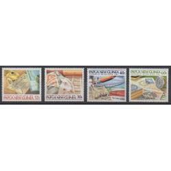 Papouasie-Nouvelle-Guinée - 1985 - No 503/506 - Service postal