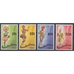 Papouasie-Nouvelle-Guinée - 1986 - No 530/533 - Costumes