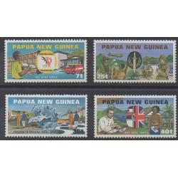 Papouasie-Nouvelle-Guinée - 1980 - No 380/383 - Service postal
