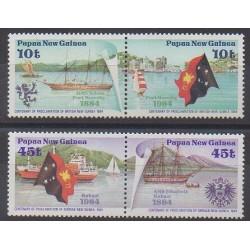 Papouasie-Nouvelle-Guinée - 1984 - No 482/485 - Navigation - Histoire