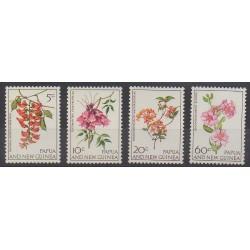 Papouasie-Nouvelle-Guinée - 1966 - No 101/104 - Fleurs - Neuf avec charnière
